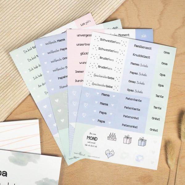 "Sticker Set ""Familie & Lieblingsmenschen"""