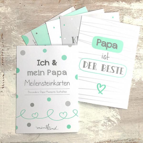 """Meilensteinkarten """"Mini-Set"""" - Ich & Mein Papa"""