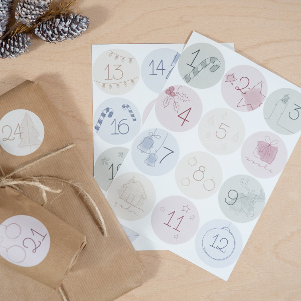 Adventskalender Sticker Set